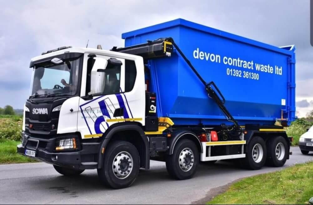 Devon Contract Waste large container van