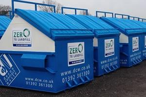 Devon Contract Waste blue waste bin containers
