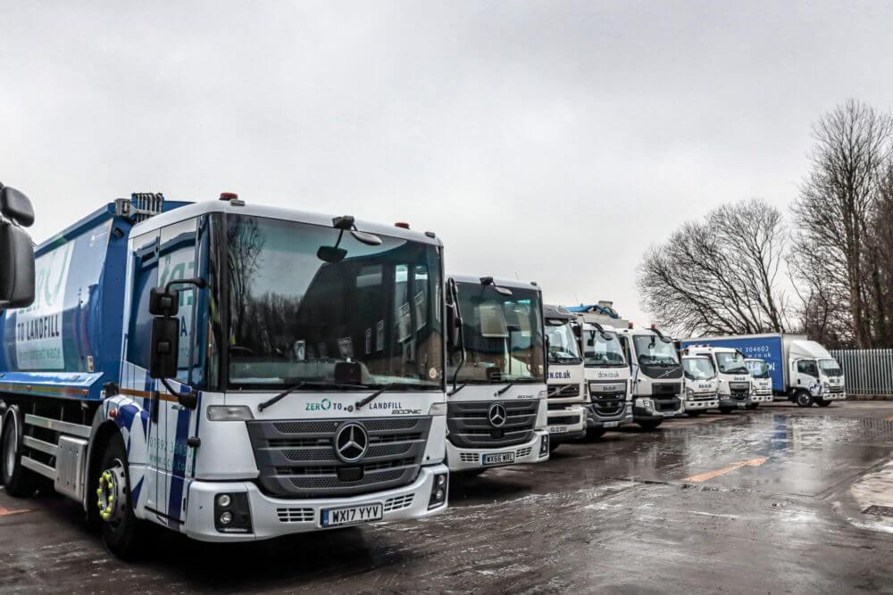 Devon Contract Waste zero to landfill vans